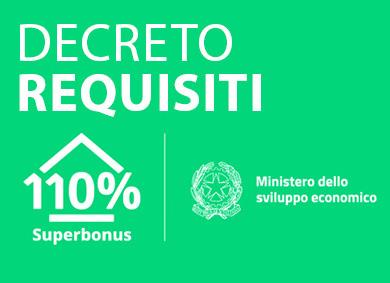 Superbonus 110%: in Gazzetta il decreto requisiti ecobonus